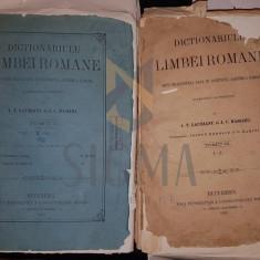MASSIMU J.C. SI LAURIANU A.T., DICTIONARULU LIMBEI ROMANE (DOUA TOMURI), BUCURESCI, 1873 - 1876 - Carte de colectie