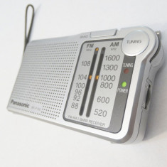 Aparat radio portabil Panasonic RF-P150 cu baterii si difuzor intern AM/FM, Analog, 0-40 W