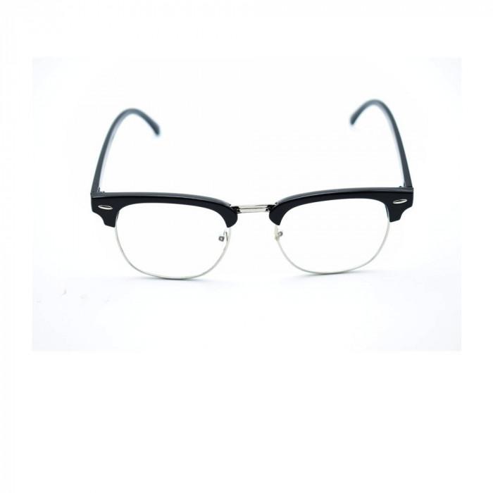 Ochelari retro lentila transparenta gen unisex model retro + husa protectie