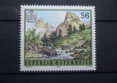 Austria 1993 - PEISAJ MONTAN LA TIROL, timbru nestampilat B8 foto