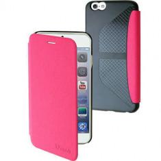 Husa Flip Cover Muvit 96893 Denim roz pentru Apple iPhone 6