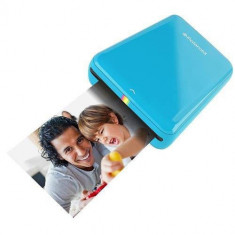 Imprimanta foto Polaroid Mobila Zip pentru Fotografii Instant Albastra si Hartie Foto
