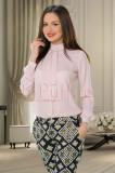 Bluza eleganta roz pudra