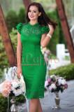 Rochie eleganta verde din dantela