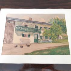 Tablou pictura veche Gustav Decani