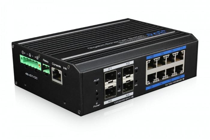Switch ethernet RING gigabit POE++ industrial, 8+4 porturi. Produs Nou foto mare