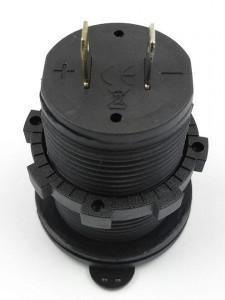 Priza incarcator 5V USB dual 4.2A iluminare LED ROSU/ALBASTRU/VERDE 12-24 Vcc