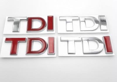 Accesoriu auto  TDI  metal sticker VW  autoadeziv foto