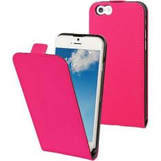 Husa Flip Cover Muvit MUSLI0528 Slim Pink pentru Apple iPhone 6, iPhone 6S