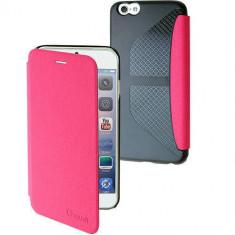 Husa Flip Cover Muvit 96952 Denim roz pentru Apple iPhone 6 Plus