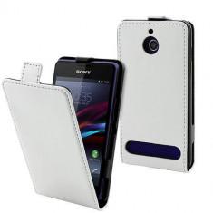 Husa Flip Cover Muvit SESLI0084 White pentru Sony Xperia E1