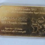Lingou de bronz suflat cu aur 24CT The road to London