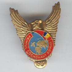 PRUNARIU - PRIMUL  COSMONAUT ROMAN  1981 - Insigna AVIATIE VARIANTA culoare RARA