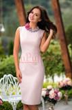 Rochie eleganta roz pudra, Raspberry