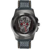 Smartwatch MyKronoz ZeTime Premium Negru Brushed si curea piele carbon Negru / Portocaliu
