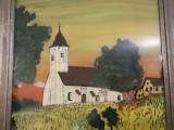 Tablou vechi Pictura pe sticla, Peisaje, Ulei, Realism