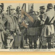 "CARTE POSTALA ""MILITARIA-Generalul GOURAUD din PRIMUL RAZBOI MONDIAL"", Alb/Negru, Circulata!"