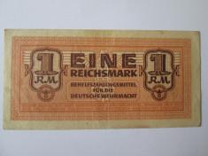 Rara! Germania 1 Reichsmark 1942 pentru Deutsche Wehrmacht foto