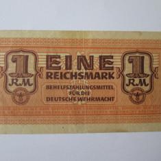 Rara! Germania 1 Reichsmark 1942 pentru Deutsche Wehrmacht
