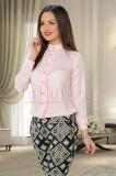 Bluza eleganta roz cu volanas