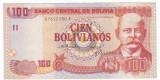 BOLIVIA 100 bolivianos 1986 *(2001)  XF serie F  P-226
