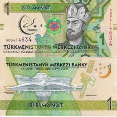 TURKMENISTAN 1 manat 2017 COMEMORATIVA UNC!!!