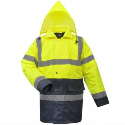 Jachetă reflectorizantă bărbați, poliester, XL, galben/albastru foto