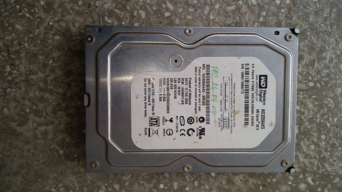Hard disc 320 Gb SATA 2 / Western digital / cache 16 Mb / Testat / 3,5 Inch (O5)