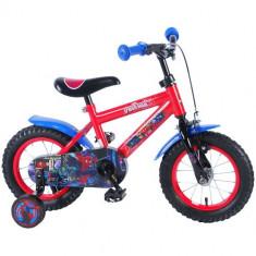 Bicicleta cu Roti Ajutatoare Spiderman 12 inch - Bicicleta copii
