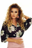 Bluza eleganta dama cu imprimeu floral