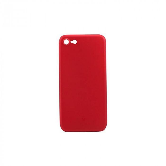 Husa Protectie Spate Baseus Wing pentru Apple Iphone 7/8 Transparent/Rosu foto mare