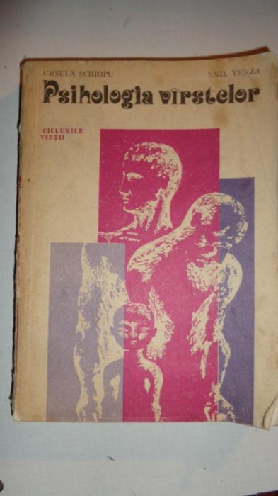 PSIHOLOGIA VARSTELOR 397PAG/AN 1981= URSULA SCHIOPU/ EMIL VERZA