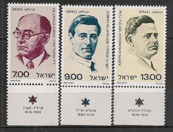 ISRAEL 1979 – PERSONALITATI , serie MNH cu TABS B196 foto mare