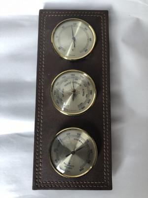 Barometru german, cu termometru si umidometru foto