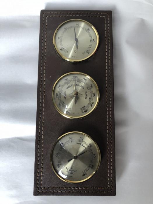 Barometru german, cu termometru si umidometru foto mare