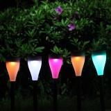 Stalp solar LED RGB, 1.2V, IP55, set 6 bucati, Lixada
