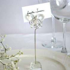 Marturii nunta/botez-suport card Fluturas