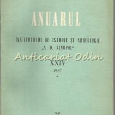 Anuarul Institutului De Istorie Si Arheologie A. D. Xenopol - Volum XXIV