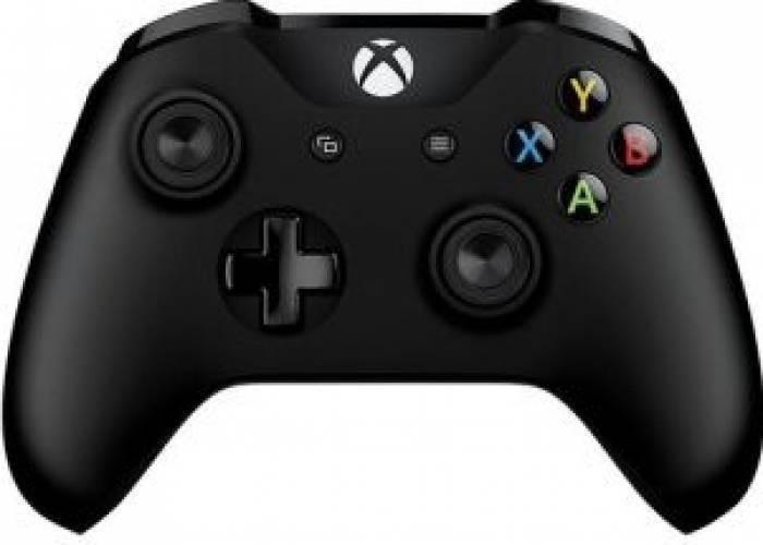 Gamepad Microsoft Xbox ONE S Wireless Controller Black foto mare