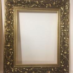 Rama tablou ,impecabila ,dimensiuni 35/45 cm int -55/65 cm ext ., Lemn, Dreptunghiular