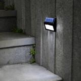 Set 2 lampi solare pentru trepte, LED lumina rece, Lixada