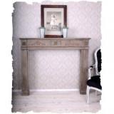 Suport semineu din lemn masiv bej  AWC010, Sufragerii si mobilier salon