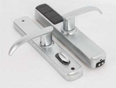 Incuietoare standalone DLA-5500-FP cu amprenta, cartela, cod si cheie mecanica. foto