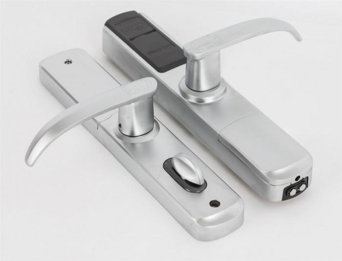 Incuietoare standalone DLA-5500-FP cu amprenta, cartela, cod si cheie mecanica. foto mare