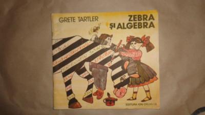 Zebra si algebra ( ilustratii - Dana Schobel Roman 48pag/an1988 - Grete Tartler foto