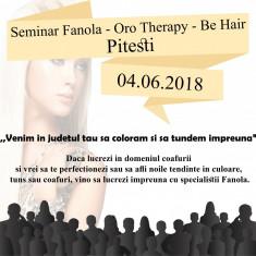 Seminar Hairstyle Fanola - Oro Therapy, Be Hair Pitesti 04 Iunie 2018