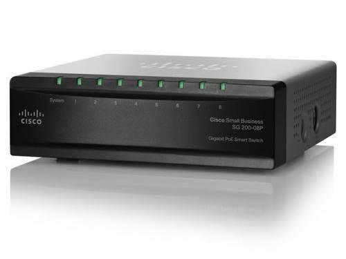 Switch Cisco SG 200-08P 8-porturi foto mare
