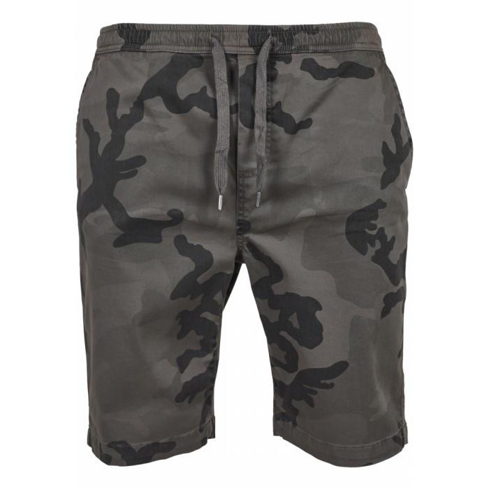 Pantaloni Scurti Barbati Camo Joggshorts gri-camuflaj foto mare