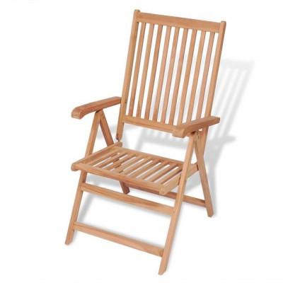 Scaun de grădină rabatabil din lemn de tec foto