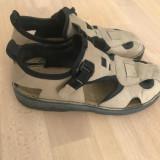 Pantofi sandale barbati din piele Rieker antistress mar.42, Maro, Adidas